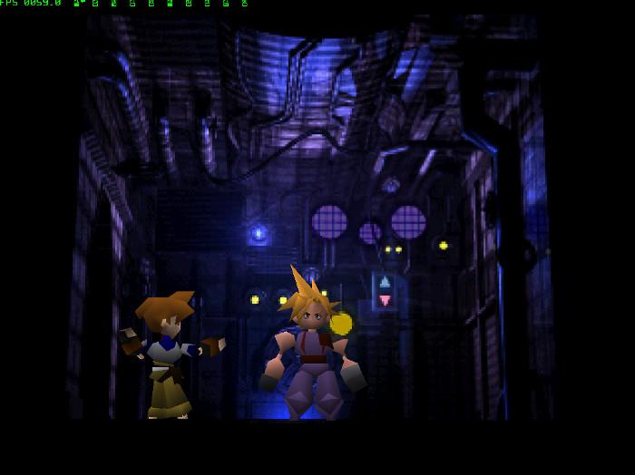 Final Fantasy VII elevator scene